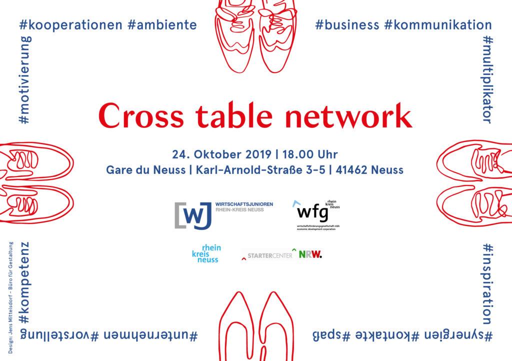 Anmeldung – Cross table network 2019