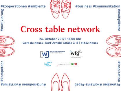 Anmeldung - Cross table network 2019